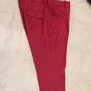 TALBOT RED PETITE PANTS SIZE 6